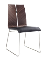 Lauren Dining Chair Natural Walnut Black | Whiteline