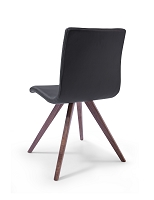 Olga Dining Chair Black Natural Walnut Legs | Whiteline