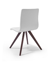 Olga Dining Chair White Natural Walnut Solid Wood Legs | Whiteline