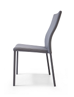 Ellie Dining Chair Grey Leather | Whiteline