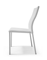 Ellie Dining Chair White Leather | Whiteline