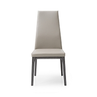 Ricky Dining Chair Taupe Oak Veneer Grey Base | Whiteline