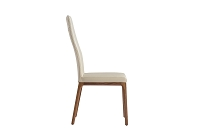 Ricky Dining Chair Taupe Walnut Veneer Base | Whiteline