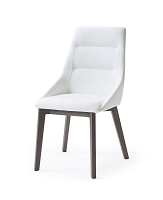 Siena Dining Chair White Grey Veneer Base | Whiteline