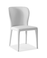 Hazel Dining Chair White Leather | Whiteline