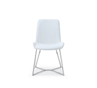 Aileen Dining Chair White Leather | Whiteline
