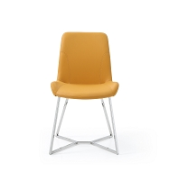 Aileen Dining Chair Yellow Leather | Whiteline