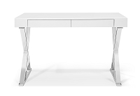 Elm Desk Large High Gloss White | Whiteline
