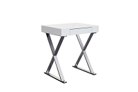 Elm Desk Small High Gloss White | Whiteline