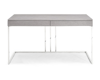 Sabine Desk In Grey Oak Veneer | Whiteline