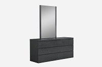 Anna Dresser Double High Gloss Grey | Whiteline