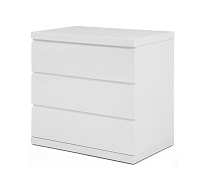 Anna Dresser Single High Gloss White | Whiteline