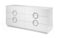 Eddy Dresser Double High Gloss White | Whiteline