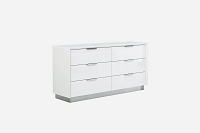 Navi Dresser Double High Gloss White | Whiteline