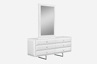 Abrazo Dresser High Gloss White 6 Drawers | Whiteline