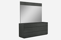 Malibu Dresser High Gloss Grey 6 Drawers | Whiteline