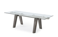 Valencia Extendable Dining Table Grey | Whiteline