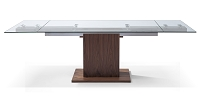 Pilastro Extendable Dining Table Walnut Veneer Base | Whiteline