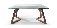 Delta Extendable Dining Table Walnut Veneer Base | Whiteline