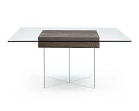 Roxana Dining Table Walnut Veneer Center | Whiteline