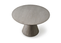 Kira Round Dining Table Grey Oak Veneer | Whiteline