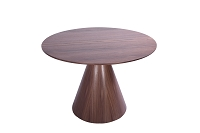 Kira Round Dining Table Walnut | Whiteline