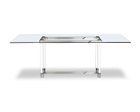 Brianna Rectangular Dining Table Glass Top | Whiteline