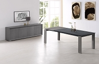 Pendenza Extendable Dining Table Grey Oak Veneer | Whiteline
