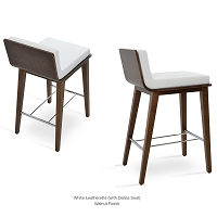 Dallas PL Wood Stool Leather | SohoConcept
