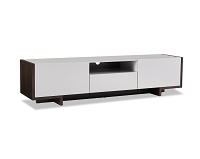 Noah TV Stand In High Gloss Taupe | Whiteline
