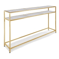 Regina Andrew Echelon Console Table Natural Brass