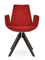Eiffel Pyramid Swivel Arm Chair Fabric | SohoConcept