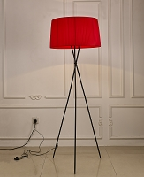 Paige Floor Lamp Red | Whiteline