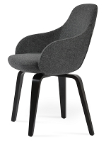 Gazel Plywood Arm Chair Fabric | SohoConcept