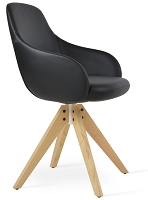Gazel Pyramid Arm Chair Leather | SohoConcept