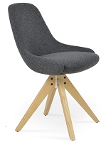 Gazel Pyramid Swivel Chair Fabric | SohoConcept
