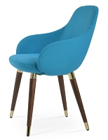 Gazel Wood Arm Chair Fabric | SohoConcept
