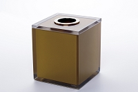 Tissue Box Holder Gloss Gold | Vallve