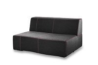 Lava Outdoor Armless Love Seat Dark Charcoal | Whiteline