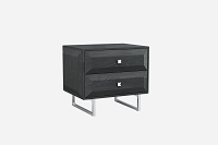 Abrazo Night Stand High Gloss Grey | Whiteline