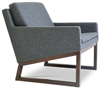 Nova Wood Armchair Sled Base Fabric | SohoConcept