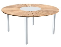 Sanctuary Outdoor Dining Table White | Whiteline