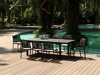 Alum Outdoor Extendable Dining Table | Whiteline