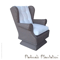 Outdoor Wing Swivel/Rocking Chair | Padma's Plantation