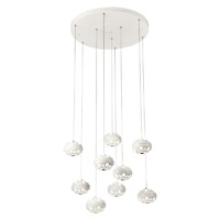 PLC Lighting Rosini 9 Light LED Pendant