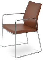 Pasha Slide Arm Chair Leather | SohoConcept