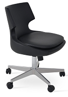 Patara Office Chair Leather | SohoConcept