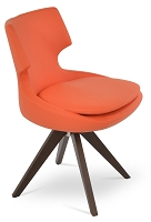 Patara Pyramid Swivel Chair Leather | SohoConcept
