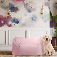 Tov Furniture Poodle Blush Pet Bed
