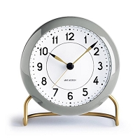 Arne Jacobsen Station Alarm Clock Grey